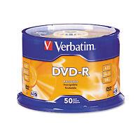 Verbatim Dvd-r Discs 4.7gb 16x Spindle Silver 50/pack 95101 on sale