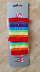 Rainbow-band-da-polso-Coppia-fasce-elastiche-per-travestimenti