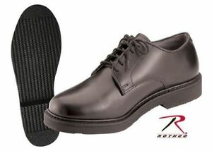 Oxford-ARMY-shoes-FLAT-FINISH-black-uniform-Soft-Sole-OIL-RESISTANT-Rothco-5085