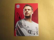 Manuel Neuer FC Bayern München SIGNIERTE Autogrammkarte 2018/19 18/19!!!