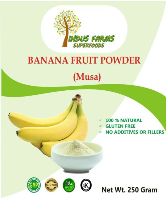 Banana Fruit Powder Dietary Supplement Superfood 100% Natural 250gms