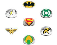 Lot Of 12 Dc Comics Rings 1 Dozen Batman Vs Superman Wonder Woman Robin Flash