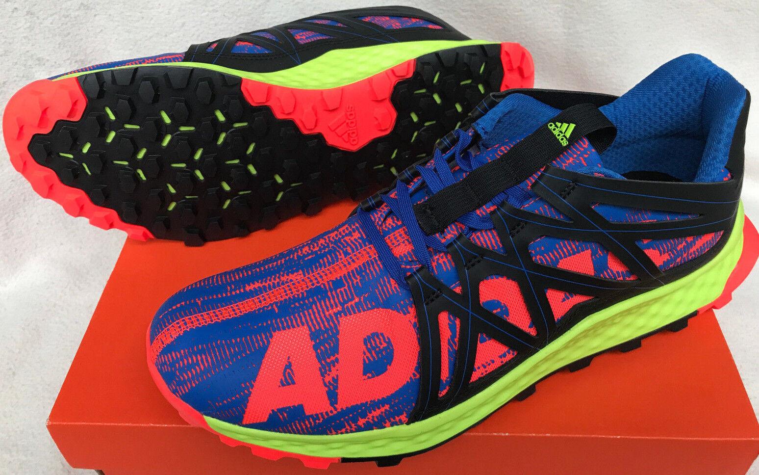 Adidas Vigor Bounce M Trail AQ7513 Bright Marathon Running Shoes Men's 10.5 new
