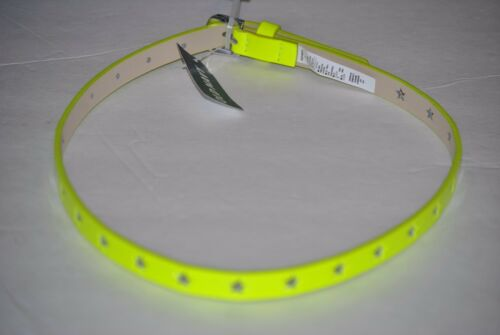 L XL S Girl/'s Old Navy Star Cut-Out Blue Neon Yellow or Pink Star Belt XS M
