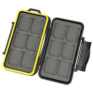 """JJC MC-SD12 Tough Water-Resistant Memory Case for 12 x SD Cards """"US Shipping"""""""