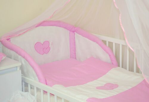 7 10 LOVELY 3 PCS 16 PCS NURSERY BEDDING SET  HEARTS  FOR COT OR COTB 13