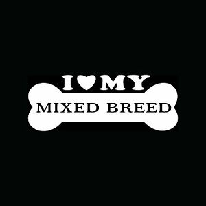 I-LOVE-MY-MIXED-BREED-Sticker-Bone-Vinyl-Decal-Dog-Heart-Puppy-Mutt-Mut-Cute-Fun