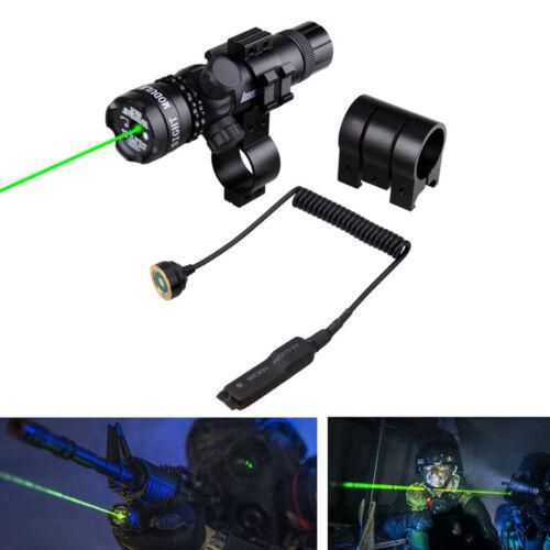 Tactical Green Laser Sight Gewehr Punktfernrohr Druckschalter Halterungen