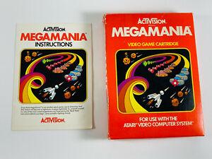 VTG-1982-Atari-2600-Activision-Megamania-Video-Game-BOX-INSTRUCTIONS-ONLY