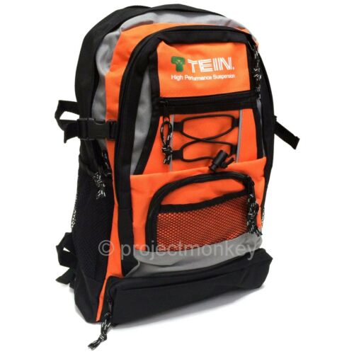 Tein Suspension Logo Backpack Black//Orange Back Pack Book Bag Knapsack Genuine