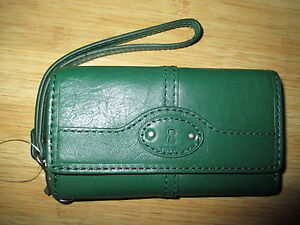 NWT-Fossil-Maddox-Leather-iPhone-4-5-Case-Wristlet-Wallet-ID-Fir-Kelly-Green-45