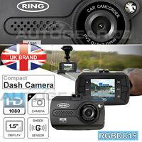 Ring Rbgdc15 In Car Windscreen Dashboard 1.5 Hd Mini Dash Cam Camera Recorder