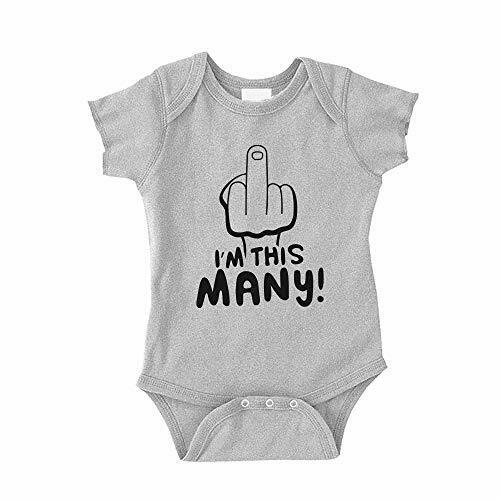 The Shirt Den I/'m This Many Middle Finger Baby Bodysuit One Piece Infant Romper