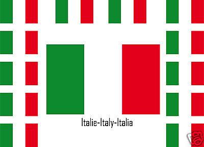 25 stickers autocollants en vinyl et mélange de tailles assortiment ITALIE