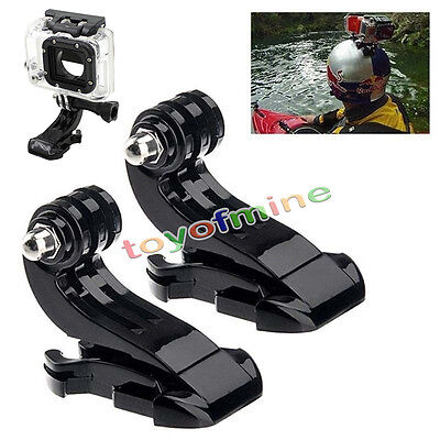 2pcs J-Hook Buckle Vertical Surface Mount Adapter for GoPro HD Hero 4 1 2 3 3+