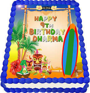 Edible Cake Images Au : Hawaii Edible Cake Image Icing Personalised Birthday ...