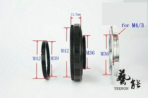 M42-M36X11.5mm Helicoid tube + M36-M4/3 Mount (M39-M42 ring free)