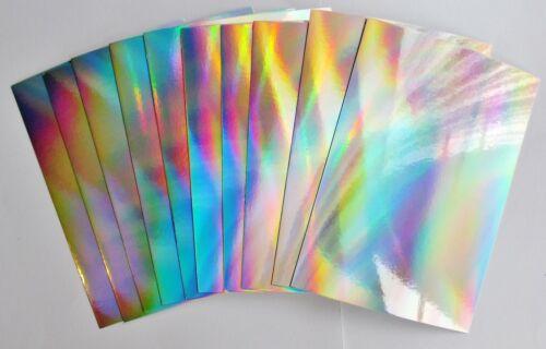 Hunkydory 20 unidades Arco Iris Brillo accompagnando Esteras Craft Espejo Tarjeta