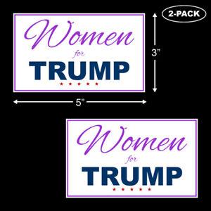 Trump-2020-Women-For-Trump-Bumper-Sticker-Decal-Vinyl-Support-MAGA-45th-2-PACK
