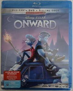 NEW DISNEY PIXAR ONWARD BLU RAY DVD 3 DISC SET FREE WORLDWIDE SHIPPING