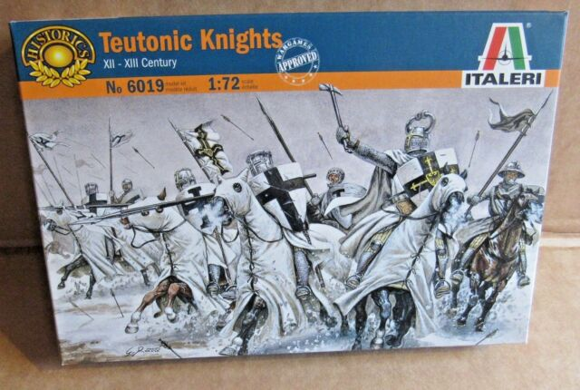 ITALERI TEUTONIC KNIGHTS 1:72 SCALE MODEL SOLDIERS XII - XIII CENTURY HORSES