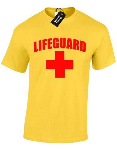 Lifeguard homme t shirt film natation plongée la duty eau vagues shark attack