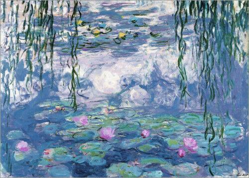 Premium-Poster Seerosen Claude Monet