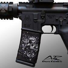 AR Soc BW Skulls-Mag Sock / Mag Wraps-size: Steel/ Aluminum USGI AR15 Style mags