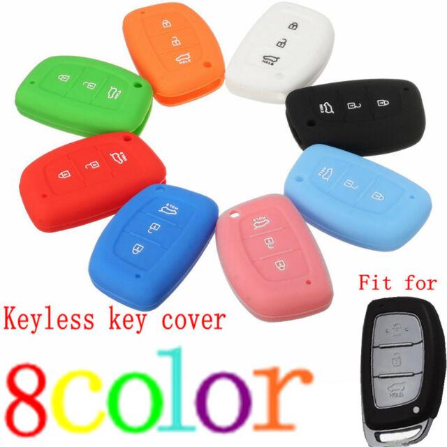 3 Buttons Silicone Key Fob Cover Case for HYUNDAI I30 Ix35 Elantra Verna