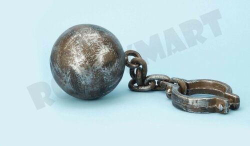 JUMBO Ball and Chain Halloween Prison Dungeon Prop RM4036