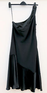 'planet' Lined Black Party / Prom Dress, Vintage Style, V.g.c..smal Size 14.