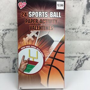 Sports Ball Valentines Day Cards 24 Cards Ages 3 New In Box Ebay