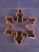Williams Sonoma Copper Cookie Cutter Snowflake Vintage With Sticker