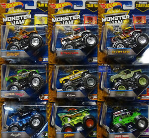 MATTEL-HOT-WHEELS-Monster-Jam-Modelle-TEAM-FLAG-Sortiment-in-1-64-2016-2