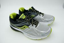 SAUCONY Ride 9 silverblacklime Mens Running Shoes 09.5