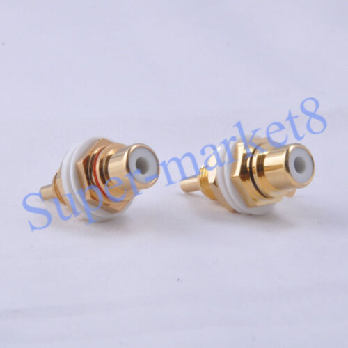 4pcs RCA Jack Female Chassis Connector 24K Gold Amplifier High Quality