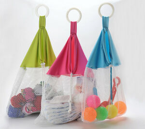 Mesh Net Laundry Stroller Bag Bath Toy Organizer Storage Beach ...