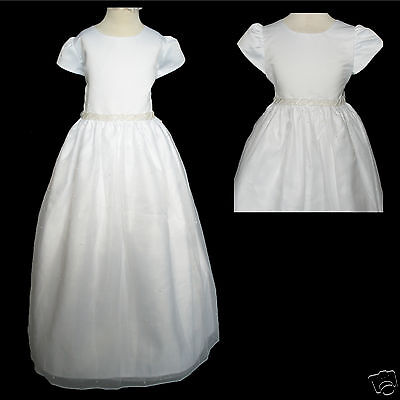 New Girl Wedding 1st Communion Recital Formal Party Dress White Size: 6x 7 Street Price