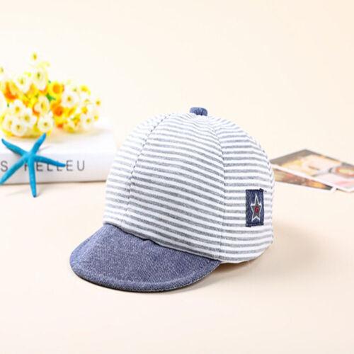 Girls Summer Soft Boy Eaves Striped Cap Baseball Cap Sun Hats Baby Hot