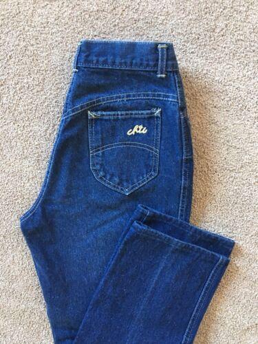 """Vintage 80""""s CHIC High Rise Side Zip Dark Wash Cro"""