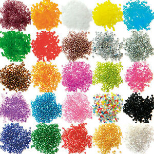 18-COLOUR-Glass-Rocaille-Like-Seed-Plain-amp-Frosted-Beads-In-Case-15g-BUY-1-2