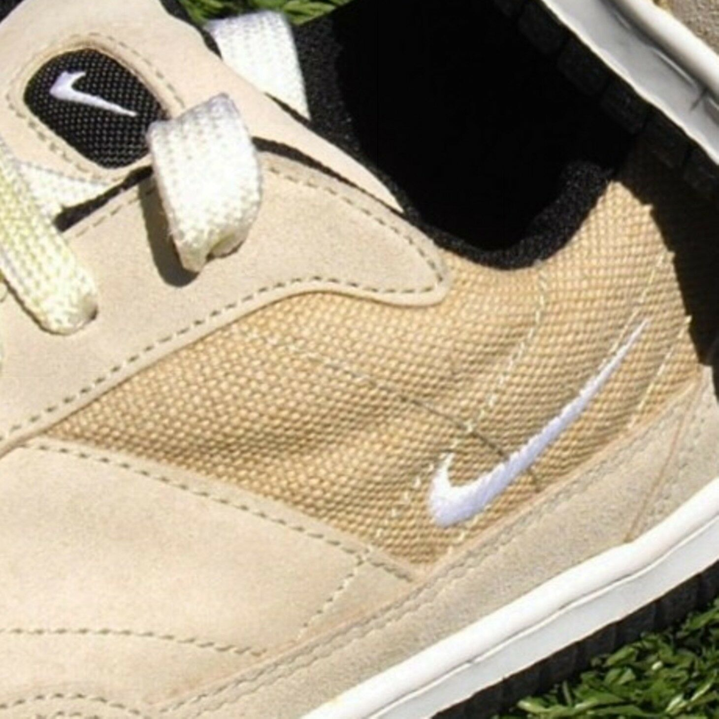 US 9.5 Nike Eur 43~ Vtg 1996 Nike 9.5 faible Tan Suede/Tweed athlétique chaussures 961202 IS ~ GOOD 601c0d