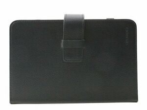 Black-Leather-7-034-Universal-iPad-MiniTablet-Case-amp-Screen-Protector-w-cloth