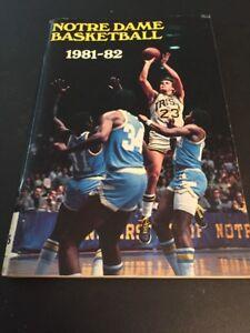 1981 1982 NCAA Basketball Notre Dame Media Guide