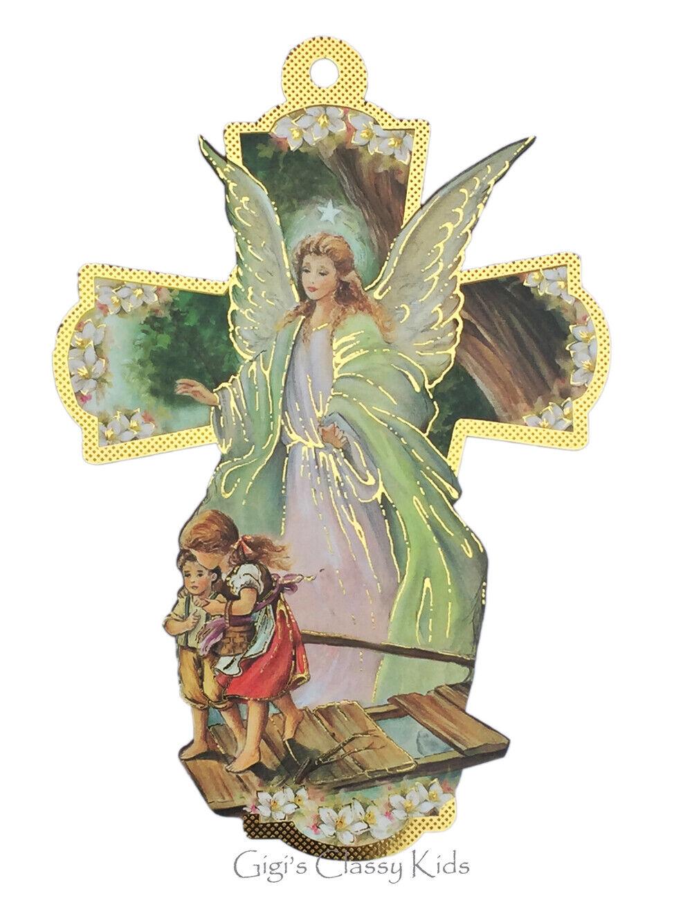 Guardian Angel Cross Baptism Christening Boy Girl Favors Gift First Communion 6