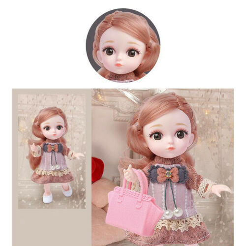 12 Gelenke 1//12 Babypuppe Pferdeschwanz Schöne Mini Prinzessin Mädchen Puppen