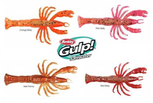 "BERKLEY GULP 3/"" GHOST SHRIMP SALTWATER FISHING LURE 7 ct  GSSGSHR3 SELECT COLOR"