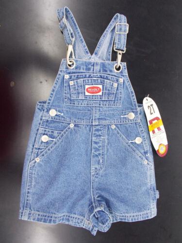 Toddlr Boys Revolt Denim Shortalls Size 2T 4T