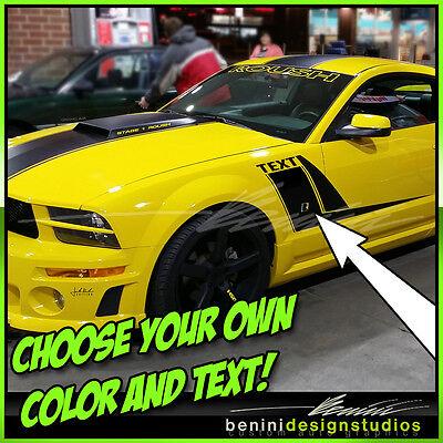 2005-2009 Ford Mustang Custom Hockey Side Stripe Vinyl  Decals GT SVT Cobra
