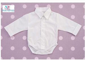 Baby Boy White Blue Grey Smart Body Shirt Formal Bodysuit Christening 3 M 3 Y Christening